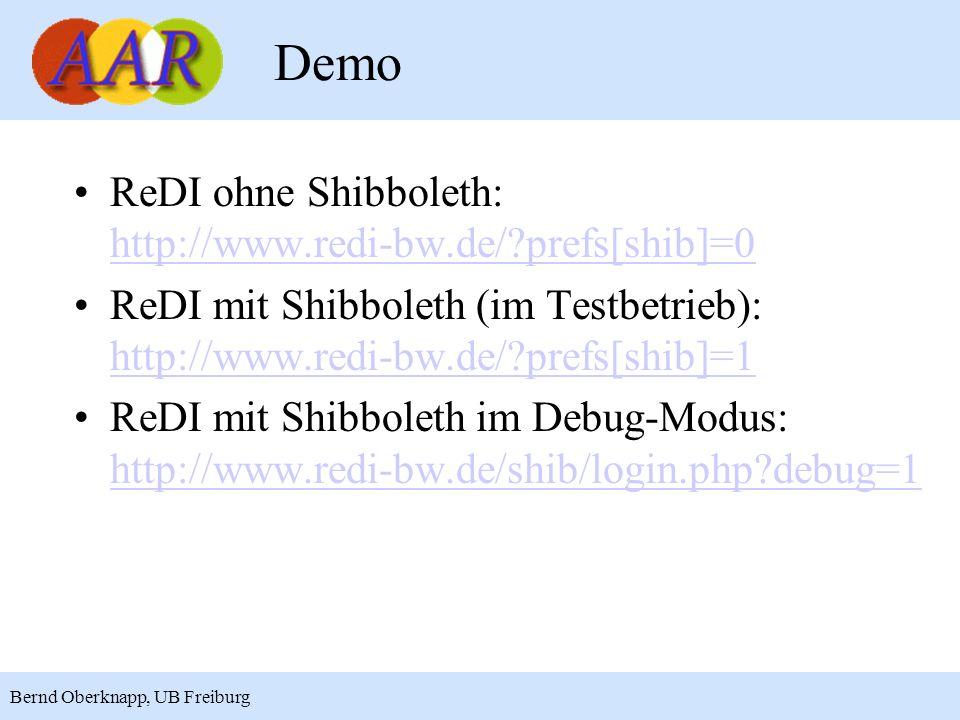 Demo ReDI ohne Shibboleth: http://www.redi-bw.de/ prefs[shib]=0